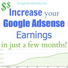 Increase Google Adsense earnings on my blog