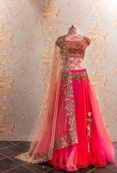 By designer Anushree Reddy. Bridelan- Personal shopper & style consultants for Indian/NRI weddings, website www.bridelan.com  #AnushreeReddy #WeddingLehenga #Bridelan #BridelanIndia.