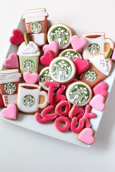 Starbucks coffee icing cookies