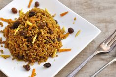 Anja's Food 4 Thought: Curried Bulgur with Carrots and Raisins
