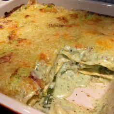 pesto lasagne met bloemkool en broccoli