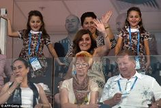 Our dad is ace! Roger Federer's twin daughtersMyla Rose and Charlene Riva and wife Mirka were seen cheering him on as he won his 1000th tennis match at Brisbane International tennis tournament on Sunday