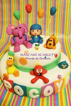 POCOYO cake - James would fall over with excitement!