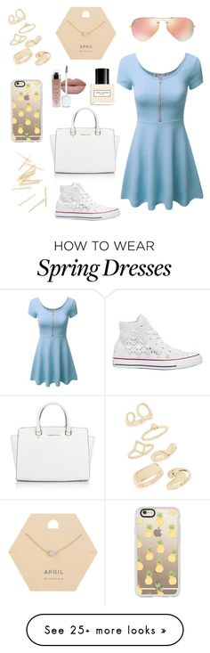 """Spring to Summer"" by blondiekam on Polyvore featuring Converse, Michael Kors, Ray-Ban, Casetify, Topshop, Miss Selfridge and Marc Jacobs"
