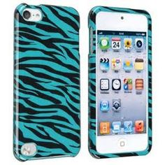 BasAcc Blue/ Black Zebra Case for Apple iPod Touch 5th Generation