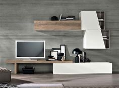 Wall Unit / Entertainment Center Exential T06 by SPAR
