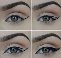 thick flick eyeliner style