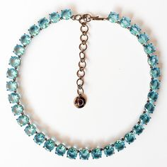 Small round Princess Riviere necklace in aquamarine. USD 150 available from www.duchessajewels.com