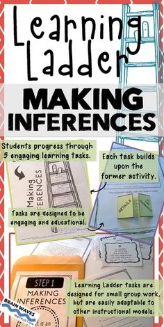 If you're looking for an engaging way to help students learn how to make inferences, then you're going to love this Learning Ladder resource. This resource includes 5 interactive activities to help students learn how to make inferences while reading.  A Learning Ladder is an instructional model that is incredibly engaging and extremely educational.