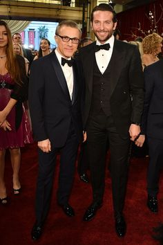 Red Carpet Oscares 2013, Christoph Waltz, Bradley Cooper