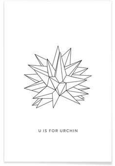 U als Premium Poster door Julia Marquardt | JUNIQE