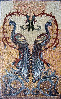 "52"" Handmade Peacock Pride Double Beauty Vines Marble Mosaic Art Stone | eBay"