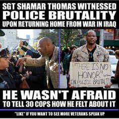 Speak Up   Speak Out   Cop Block Shamar Thomas   Police Brutality