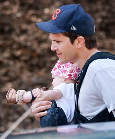 Ashton Kutcher and Baby Wyatt Wore Matching Outfits for a Hike  - ELLE.com