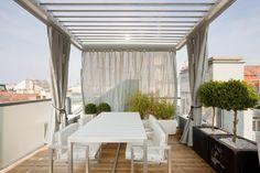 pergolas modernas intimidad cortinas grava