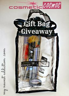 Want to win a gift bag valued at over $80?  Click through to enter the #giveaway with products from Cosmetic Cosmos.