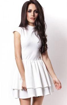aeaf82aedd Ivon 200 sukienka biała - Modne sukienki Ivon - Sukienki na wesele 2017 -  MODA DAMSKA - Sklep