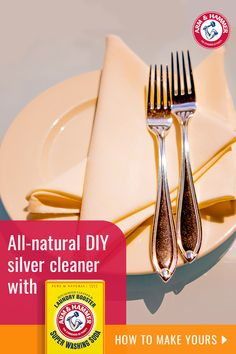 Remove tarnish and make your silver shine with ARM & HAMMER™ Super Washing Soda. This easy-to-mix, all-natural solution will make your silverware look like new. Learn more about this natural cleaning tip. Diy Cleaners, Household Cleaners, Cleaners Homemade, Household Tips, Cleaning Recipes, Cleaning Hacks, Grill Cleaning, Terracotta, Arm And Hammer Super Washing Soda