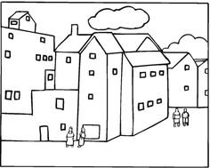 Free Buildings Coloring Pages Colorpages Coloringpages