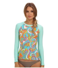 851b044ae96f6 Find the lowest price on the Trina Turk - Cosmos Long Sleeve Rash Guard ( Multi) Trina Turk. We offer the best selection of womens swimwear and  bikinis ...