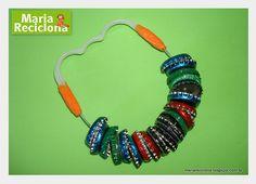 Chocalho de material reciclado