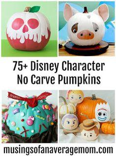 painted pumpkins Over 75 Disney (and Pixar) no carve & painted pumpkin ideas Over 75 Disney (and Pixar) no carve & painted pumpkin ideas Glitter Pumpkins, Painted Pumpkins, Halloween Pumpkins, Minnie Mouse Pumpkin, Disney Pumpkin, No Carve Pumpkin Decorating, Pumpkin Carving, Carving Pumpkins, Pumpkin Painting