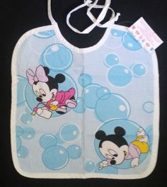 Adult Baby Bib perfect for ABDL baby Mickey & Minnie bubble time