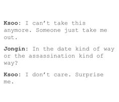 But this is Jongin we're talking about so it's definitely a date