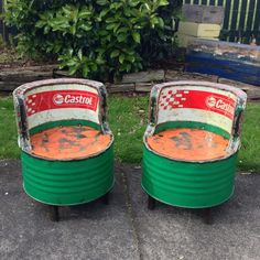 Recycled Oil Drum Chair