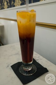 Thai iced tea at Bangkok Cuisine Upper East Side, NYC