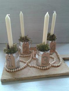 Uit mijn keukentje: DIY: Adventskaarsen maken #kerst15
