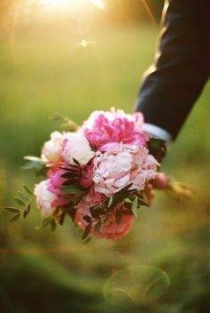 pink wedding bouquet http://www.weddingchicks.com/2013/09/12/rustic-after-the-wedding-shoot-ideas/
