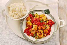 Aloo Gobi, indisches Rezept mit Kartoffeln und Blumenkohl - vegetarisch