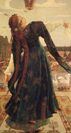 Frog Princess (detail), 1918, by Viktor M. Vasnetsov (Russian, 1848–1926). Oil on canvas | Vasnetsov Memorial Museum, Moscow | WikiMedia