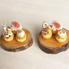 Miniature animal cupcakes