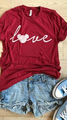 Mickey Mouse Love. Unisex Fit. Disney Inspired Shirt. T Shirt. Women's Clothing. Light Weight T shirt. Cool T Shirt. Fun Disney Trip Shirt #ad