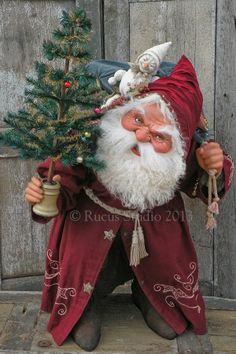 Rucus Studio - Santa With Snowman by Scott Smith