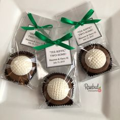 Chocolate Covered Oreo Cookie GOLF BALL Favors with Custom Tags #chocolate #golf #ball #oreo #cookie #party #candy #favors #golfer #golfing #sports #banquet #personalized #custom #tags #rosebudchocolates #birthday #tee Sports Snacks, Candy Party Favors, Sports Birthday, Chocolate Covered Oreos, Custom Tags, Personalized Favors, Oreo Cookies, Golf Ball, Rose Buds