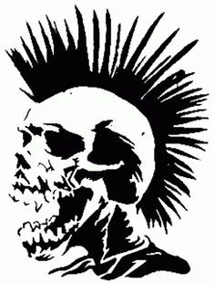Large Music Skull Punk Wall Art Decal Mural by BoultonsGraphics Punk Art, Arte Punk, Skull Stencil, Stencil Art, Skull Art, Stencils, Style Punk Rock, Holiday In Cambodia, Images Wallpaper