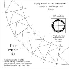 FLYING GEESE quarter circle. OH YEAH..