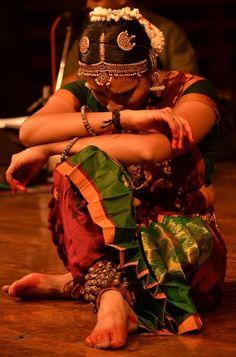 Classical Indian dance dancer.