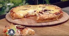 Πίτσα στο τσακ μπαμ & Γαριδοκροκέτες πάνω σε ντάκο Pie, Desserts, Food, Pie And Tart, Pastel, Deserts, Fruit Cakes, Pies, Dessert