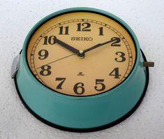 Antique Original Rare Slave Vintage Marine Ship Seiko Quartz Clock Made in Japan #Seiko #AntiqueStyle