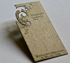 business card - this site has some awesome, creative business cards! and links to more awesome business card ideas!