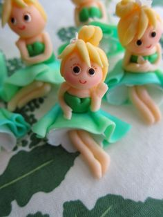 Green Girls Cupcake Toppers 6 Girls by mimicafeunion on Etsy, $39.00