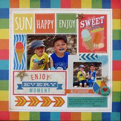 Enjoy Every Moment - Scrapbook.com - Summer Paradise SImple Set
