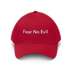 Fear No Evil (Cap | Multiple Colors) - True Red / One size