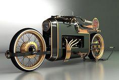 las fotos mas alucinantes: moto steampunk