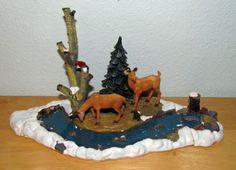 Lemax Christmas Village Landscape Accessory Accent Feeding Deer Tree 03327 | eBay
