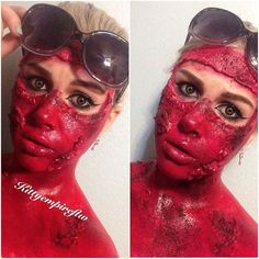 Sunburn  I tried it both with and without coffee grinds  #sfx #makeup #sun #sunburn #burn #specialeffectsmakeup #specialeffects #spfx #sfxmakeup #undiscovered_muas #blood by kittyempireftw